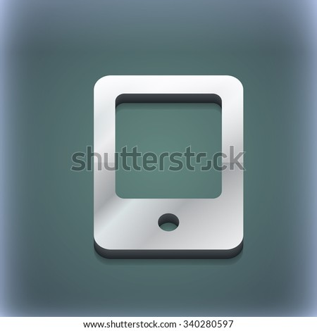 Tablet icon symbol. 3D style. Trendy, modern design with space for your text illustration. Raster version - stock photo
