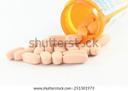 tablet or pills medicine closeup - stock photo