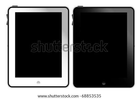 Tablet pc white and black - stock photo