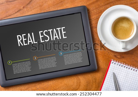 Tablet - Real Estate - stock photo