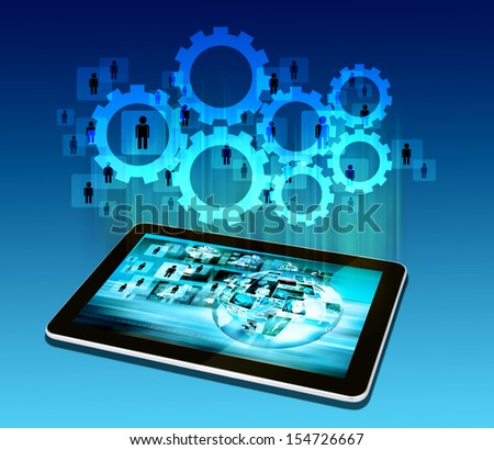 tablet  technology business concept - stock photo