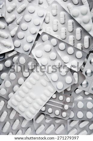 Tablets in blister packs - stock photo