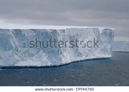 Tabular iceberg in Antarctic Sea,Erreras Channel, Antarctica - stock photo