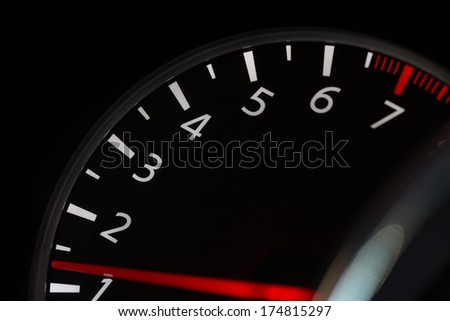 Tachometer - stock photo