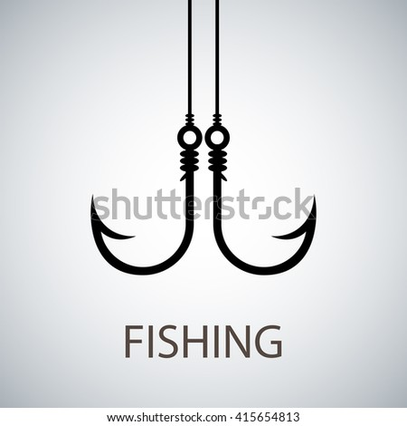 Tackle for fishing; fishing hook; Hook for fishing - stock photo