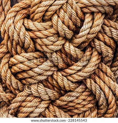 tackle ropes - stock photo