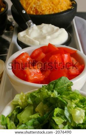 taco condiments - stock photo