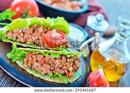 tacos - stock photo