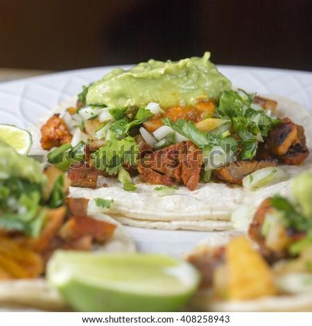 Tacos al pastor  - stock photo
