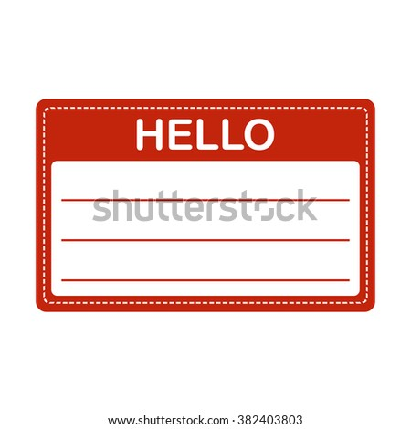 Tag badge holder or name introduction flat label. - stock photo