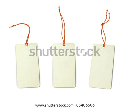 tag collection isolated on white - stock photo