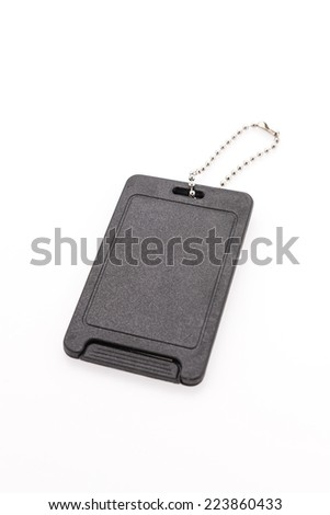 Tag id isolated on white - stock photo