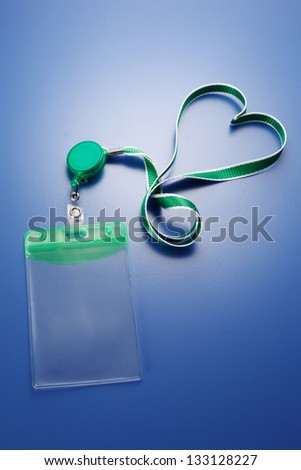 tag or card holder with landyard - stock photo
