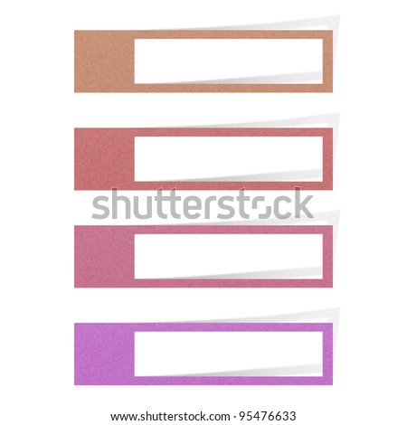 tag recycled paper on white background - stock photo