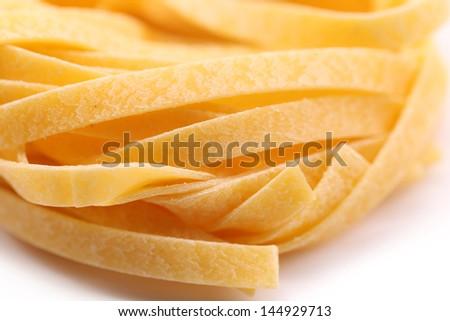 Tagliatelle paglia e fieno tipycal italian pasta. - stock photo
