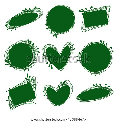 Tags set for inscriptions. Labels for organic products. Tags natural, dietary, useful products. Bio logos. Green labels - stock photo