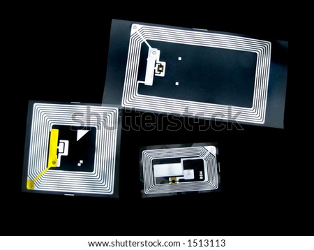 Tags used for RFID purposes - stock photo