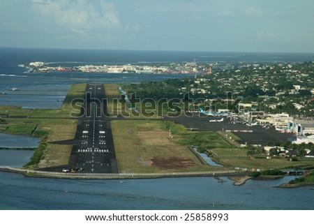 Tahiti, French Polynesia international Airport - stock photo