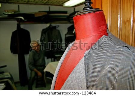 Tailor's atelier - stock photo