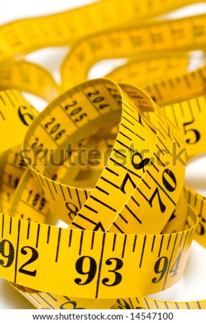 Tailor's Measuring Tape - stock photo