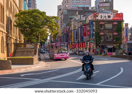 Taipei, Taiwan - January 19, 2014: Beimen camera street in Taipei city. there are hundreds of stores selling camera and photographic equipments - stock photo
