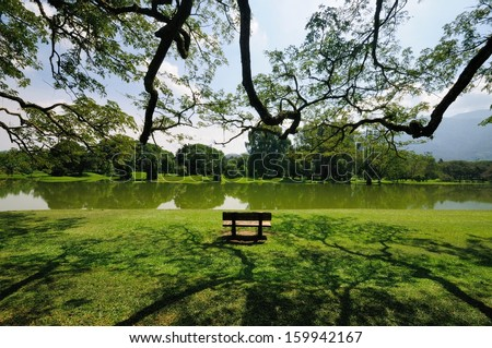 Taiping Lake in the afternoon - stock photo