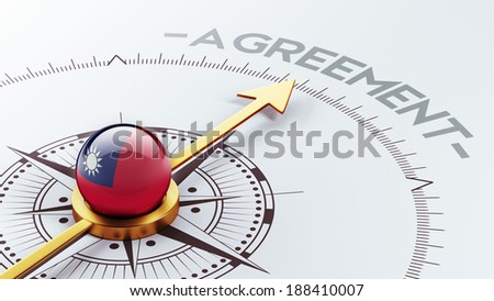 Taiwan High Resolution Agreement Concept - stock photo
