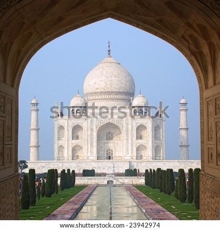 Taj Mahal (Agra, India) - stock photo