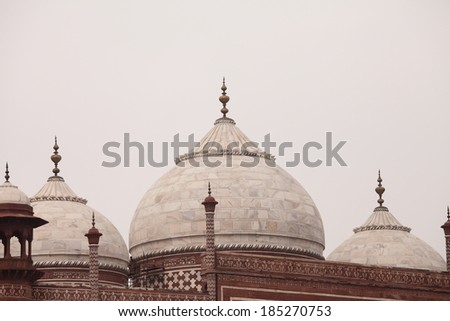 Taj Mahal Dome building - stock photo