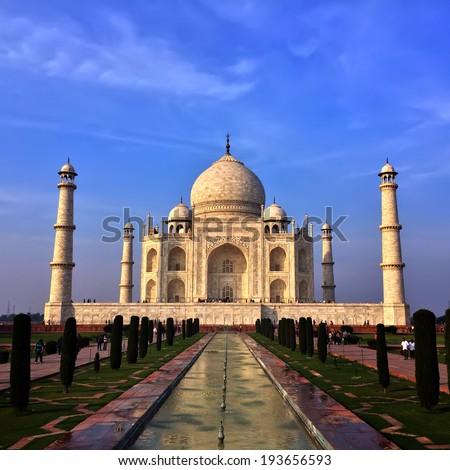 Taj Mahal in Agra, Uttar Pradesh, India.   - stock photo