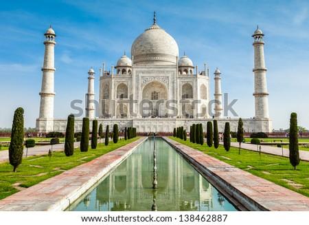 Taj Mahal, India - stock photo