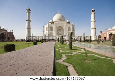 Taj Mahal mausoleum, Agra, Uttar Pradesh,  India - stock photo