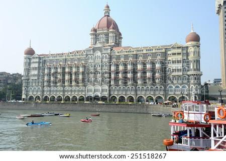 Taj Mahal Palace in Mumbai, India - stock photo