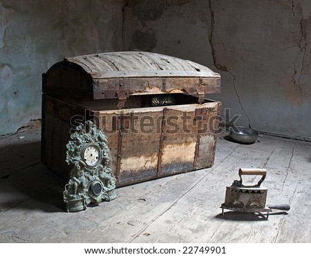 Take a look closer, maybe someone waiting for you in the attic. - stock photo