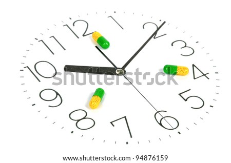 Take medicine on time - stock photo