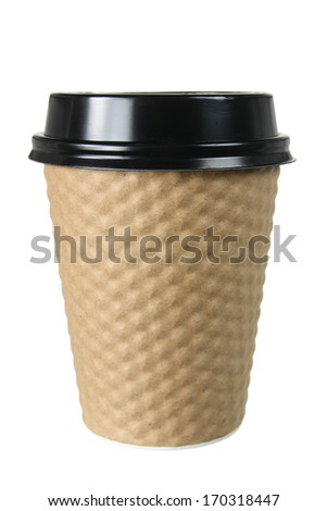 Takeaway Coffee Cup on White Background - stock photo