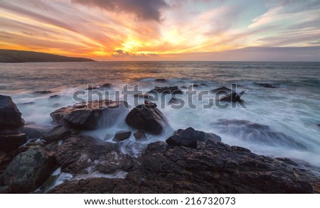 Taken from The Island St. Ives, Cornwall - stock photo