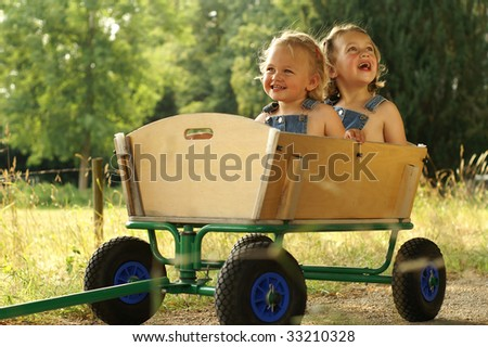 Taking a ride outside is fun - stock photo