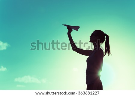 Taking flight.  - stock photo
