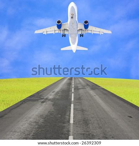 Taking off - stock photo