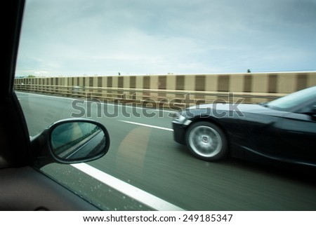 Taking Over on The HighWay - stock photo
