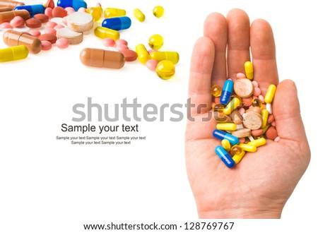 Taking Pills - stock photo