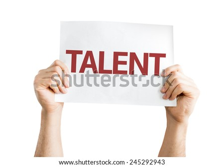 Talent card isolated on white background - stock photo