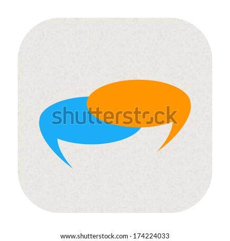 Talk bubble icon - stock photo