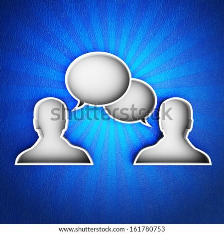 Talk icon - stock photo