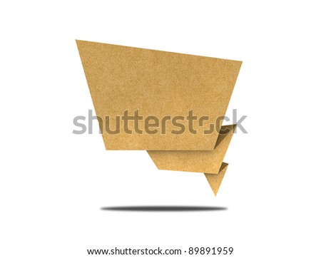 Talk tag recycled paper - stock photo