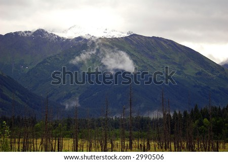 Talkeetna Mountains, Alaska - stock photo