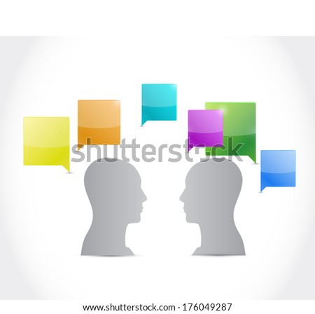 talking people. illustration design over a white background - stock photo