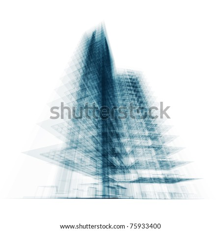 Tall building. Conceptual architecture project - stock photo