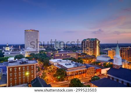 Tallahassee, Florida, USA downtown skyline. - stock photo